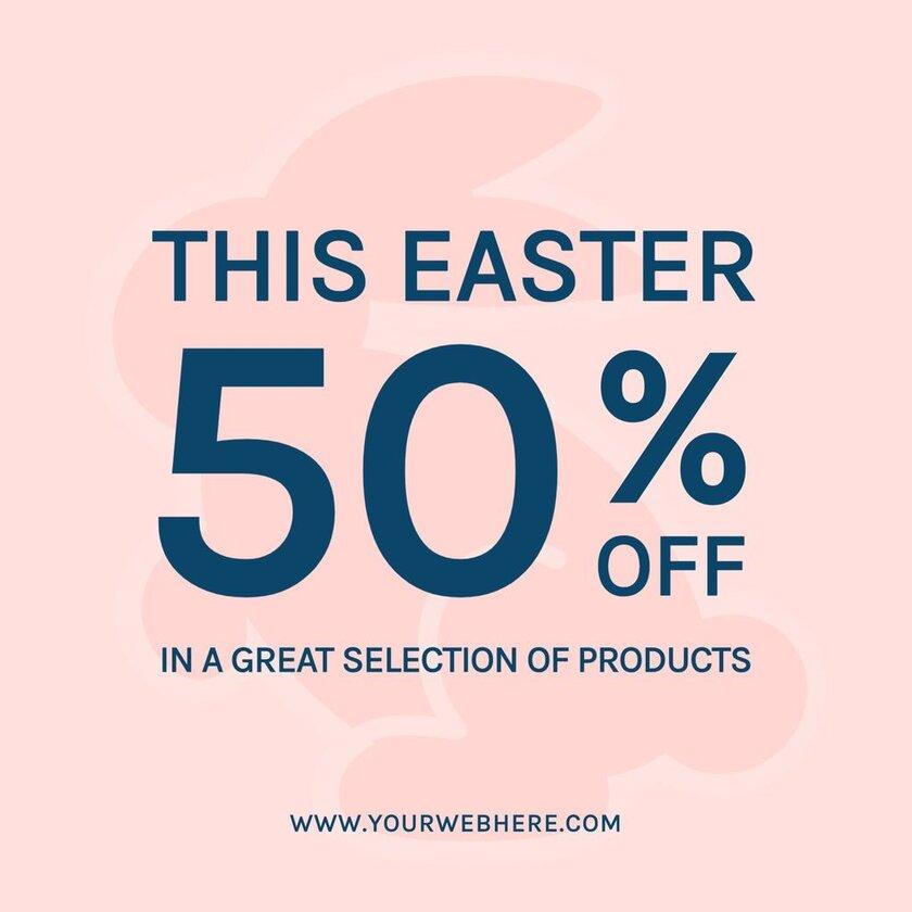 easter promotion rabbit