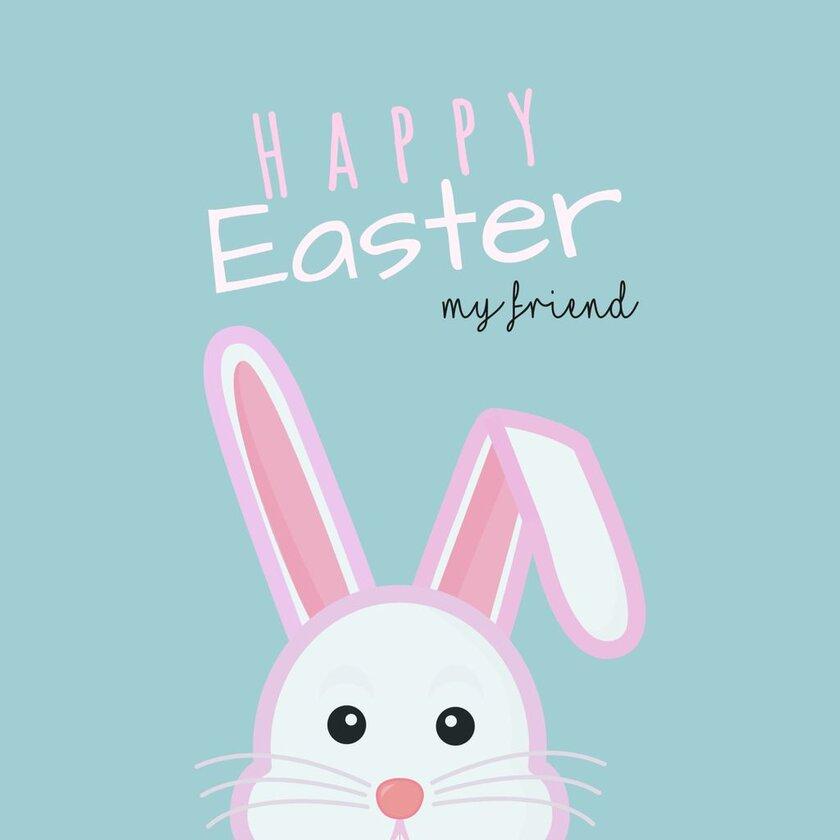 happy easter rabbit template