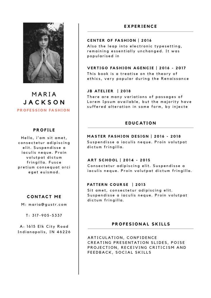 fully editable resume template