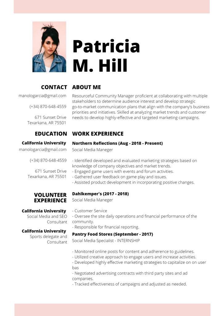 resume template modern
