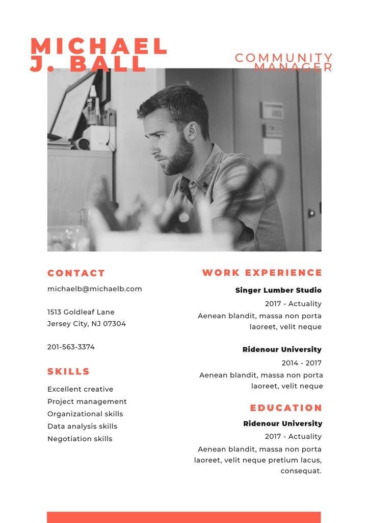 simple resume template editable