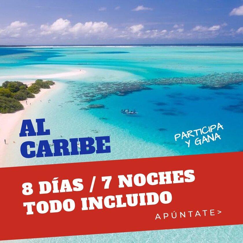 plantilla editable para banner de agencia viaje al caribe