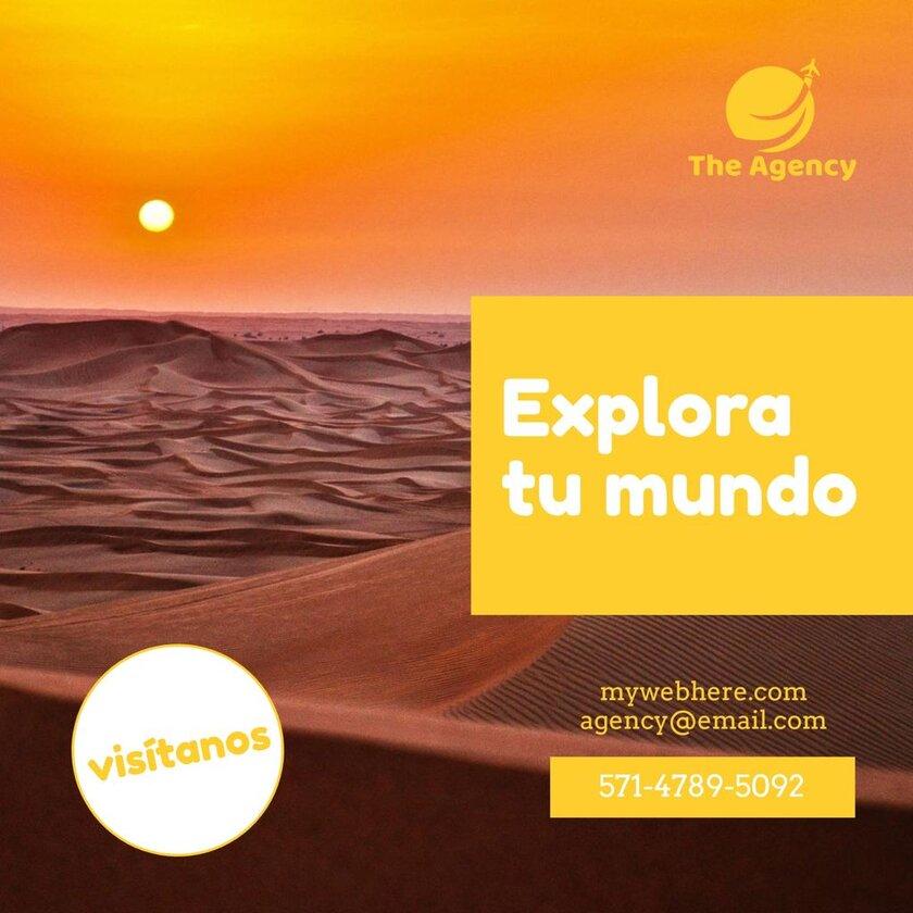 diseño para promoción de agencia de viaje
