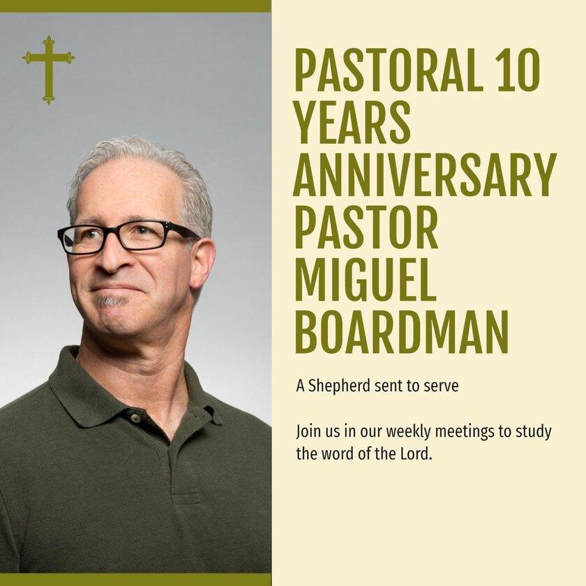 pastoral aniversary template