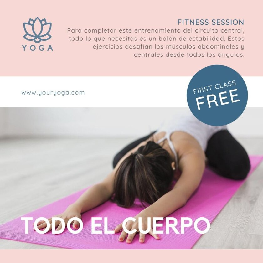 sesion yoga banner
