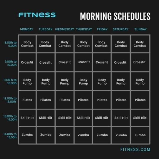 gym planning template