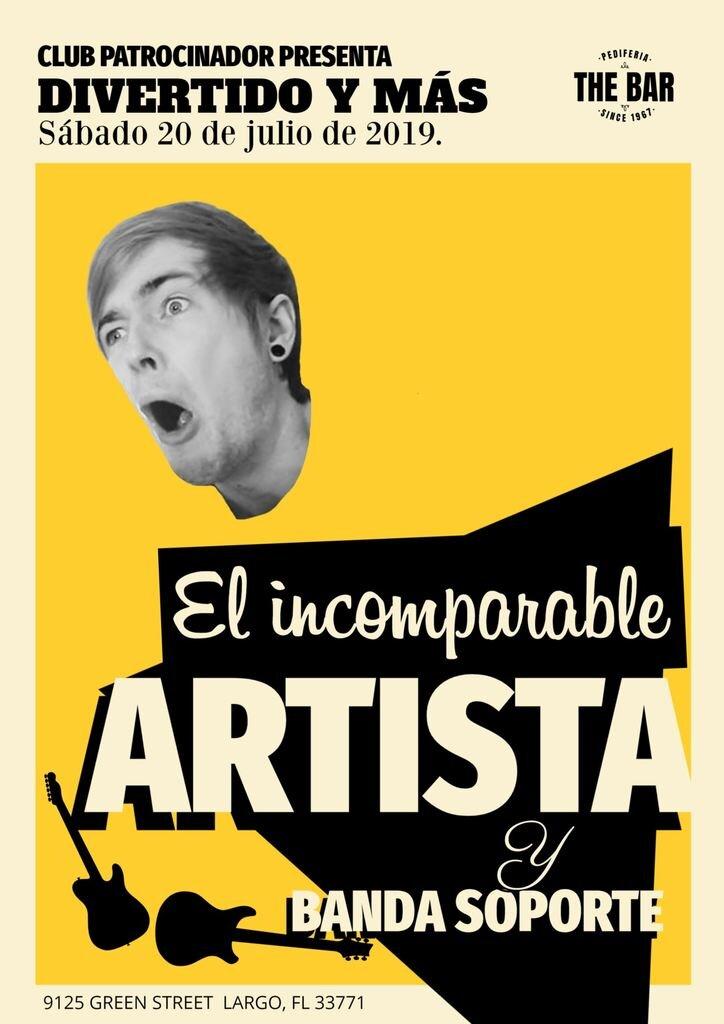 cartel concierto retro plantilla