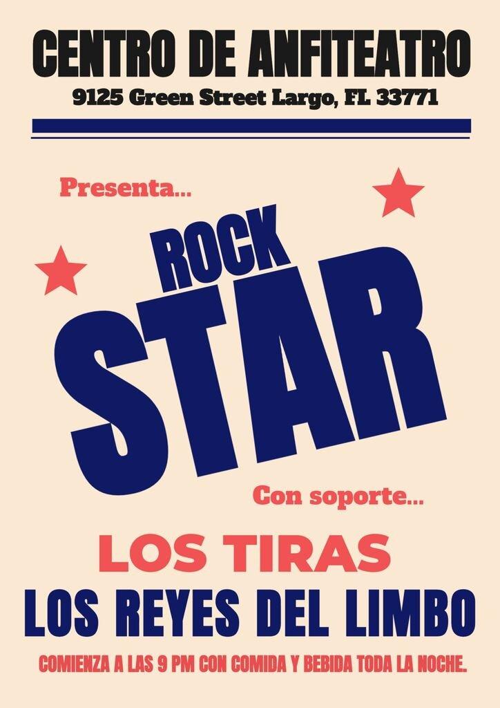 cartel de concierto plantilla