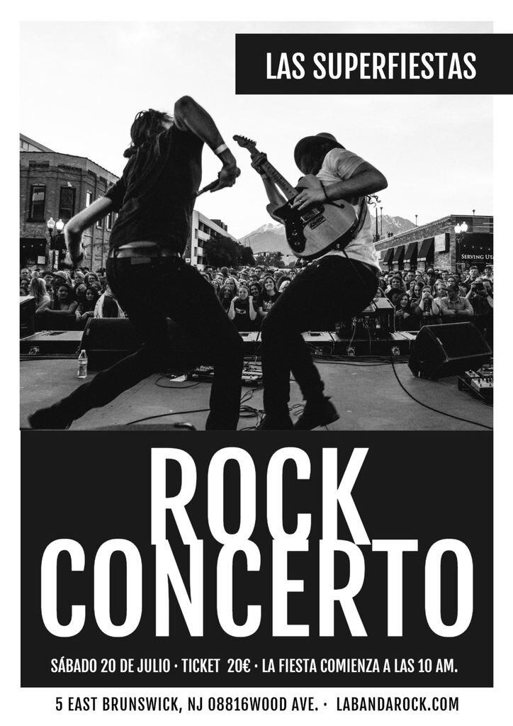 concierto rock cartel