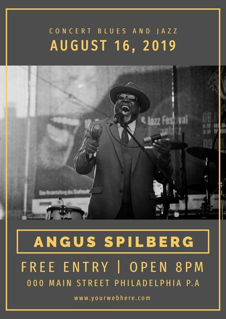 blues gig poster template