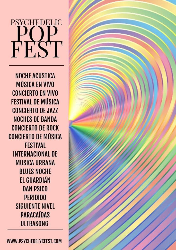 cartel festival musica plantilla
