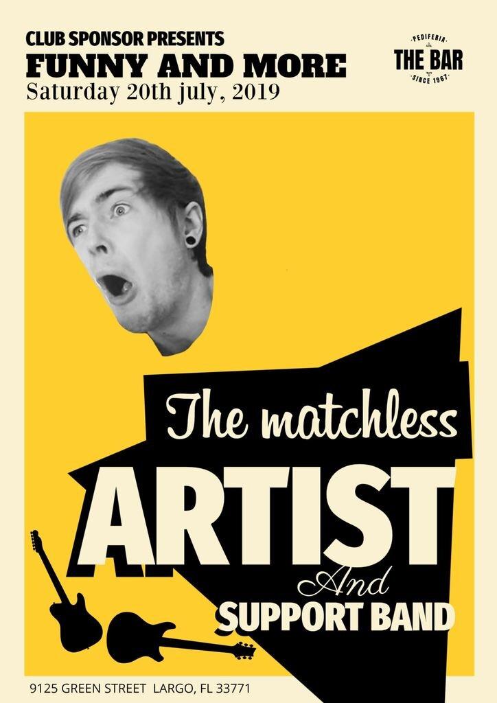 Retro concert poster template