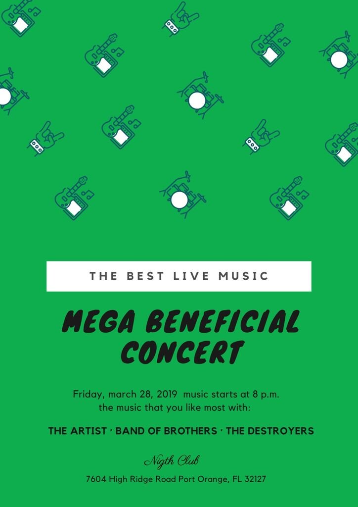 concert poster template green