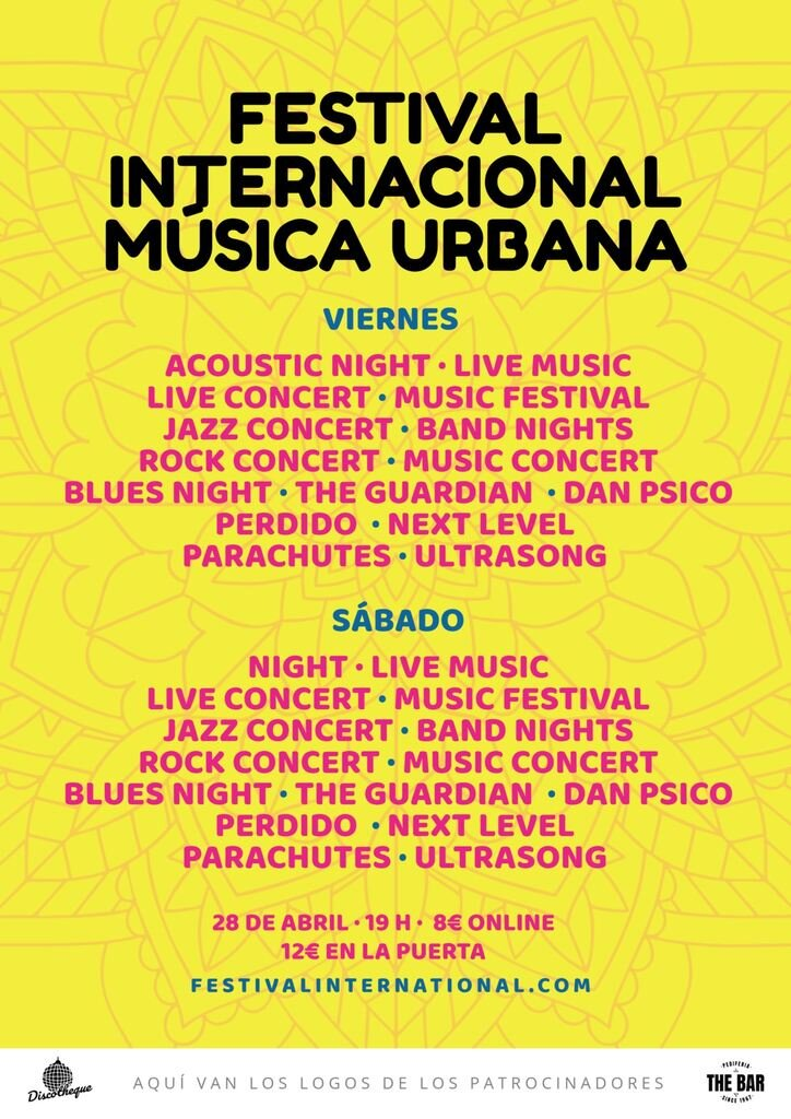 festival musica urbana cartel