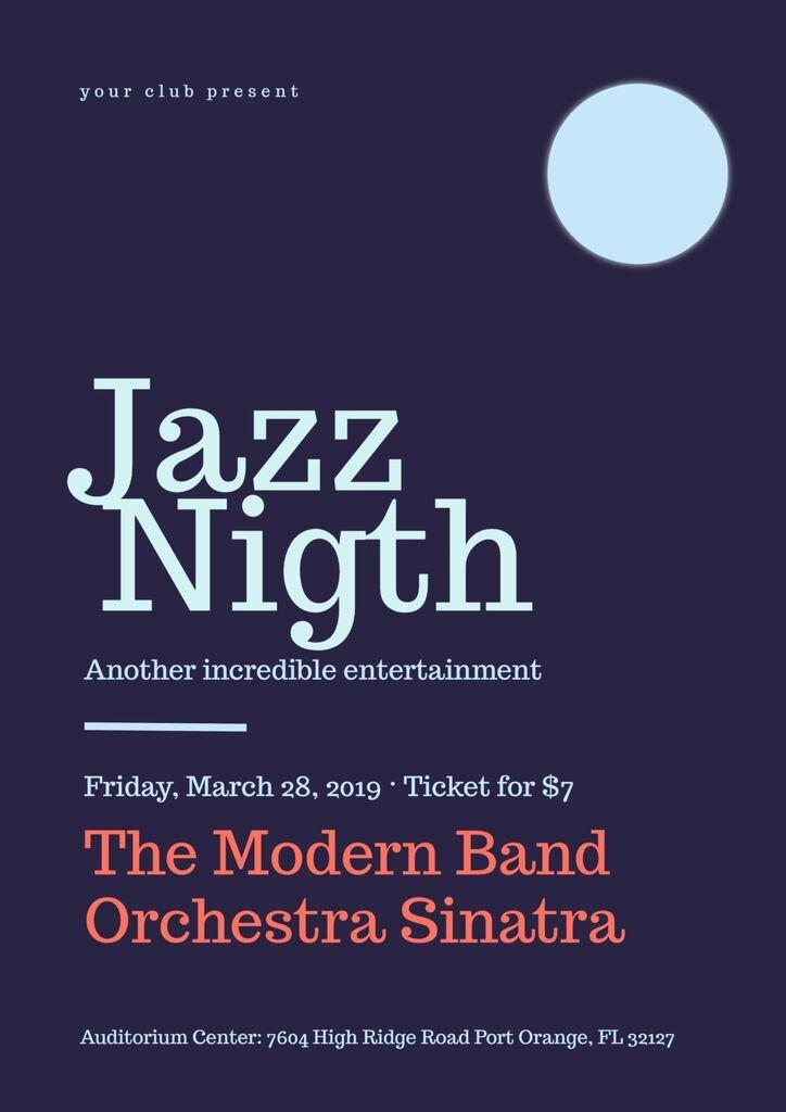 jazz night poster template