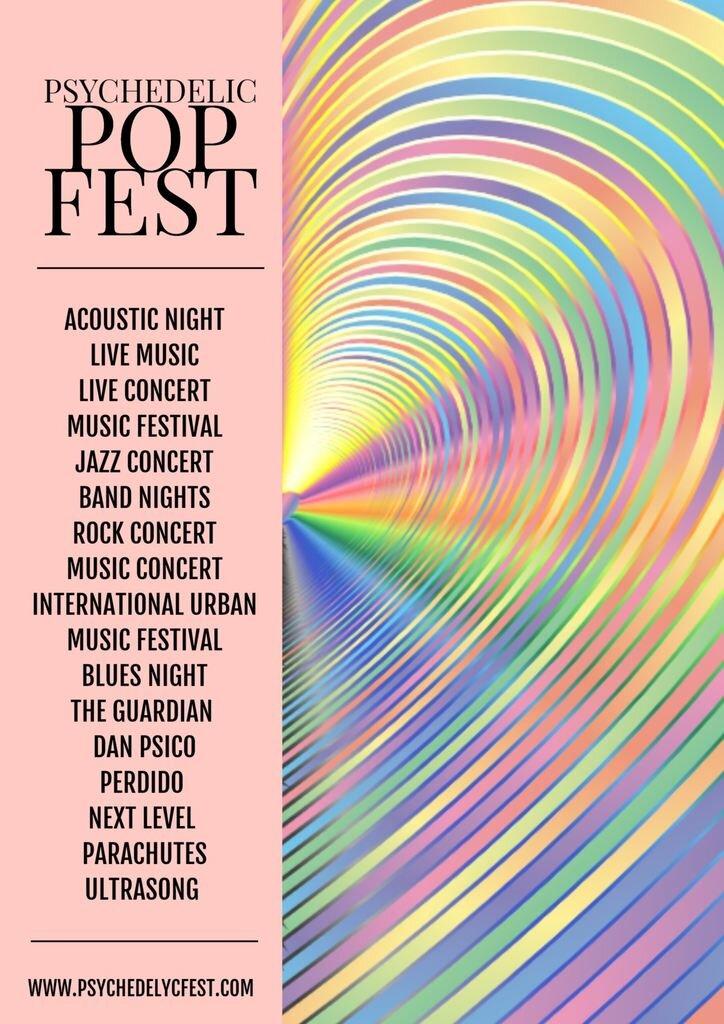 music festival template