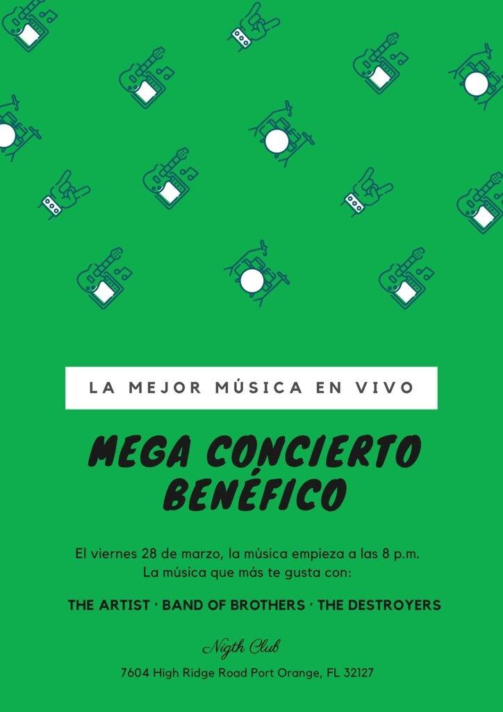plantilla poster concierto simple