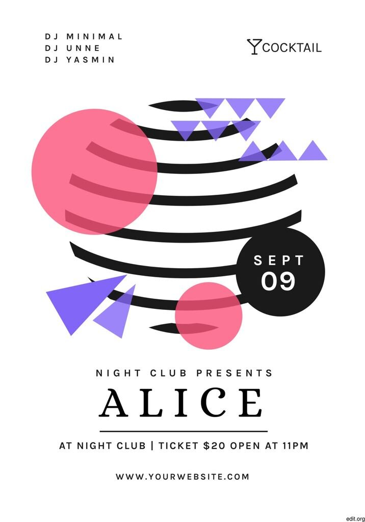 club night party template