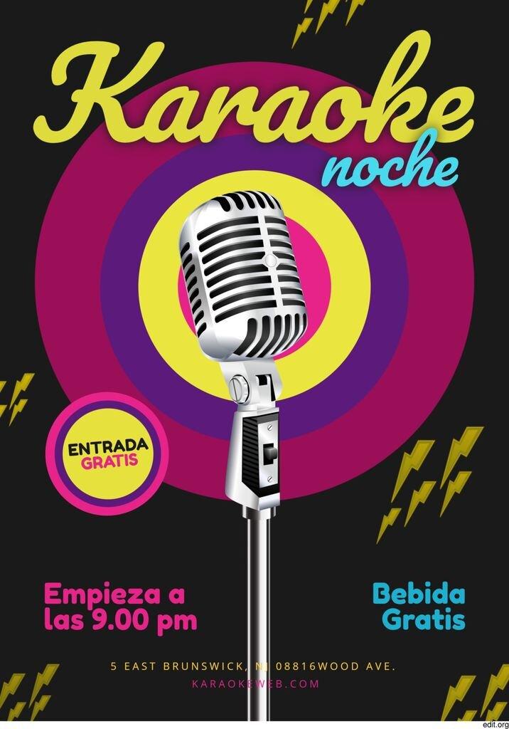 Plantilla gratis de cartel de karaoke personalizable