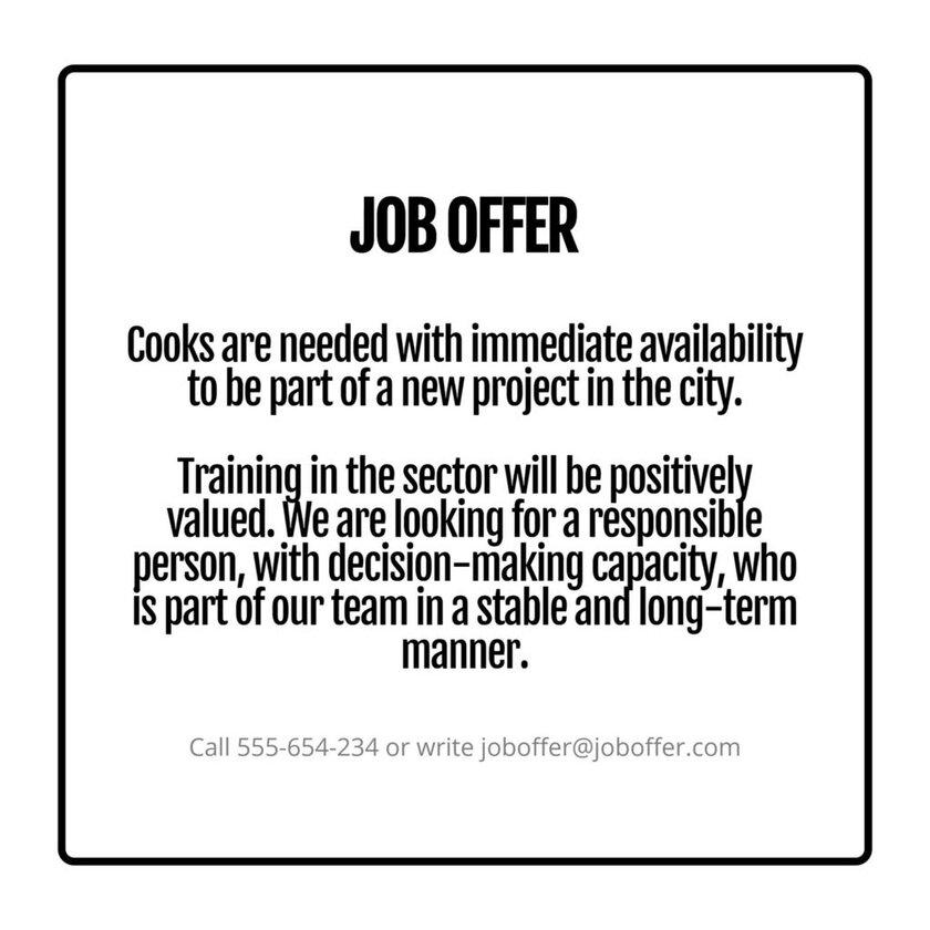 job offer poster