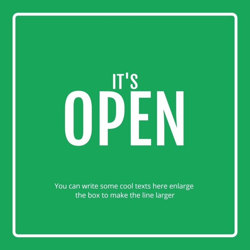 open sign printable