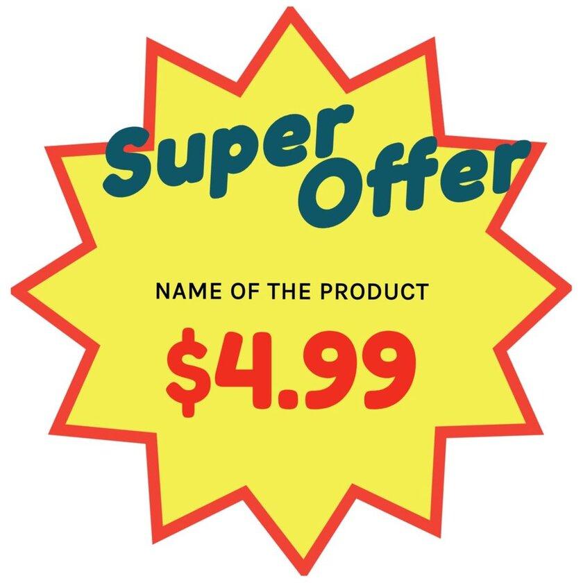 super offer shop poster