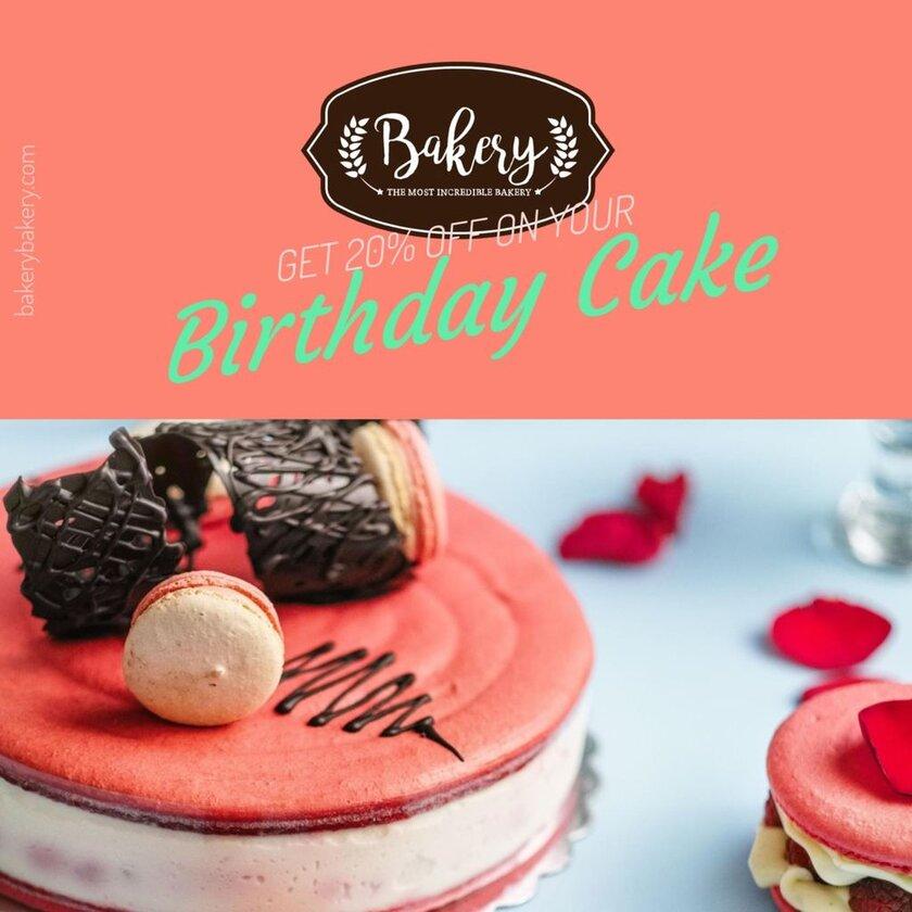birthday cake discount template