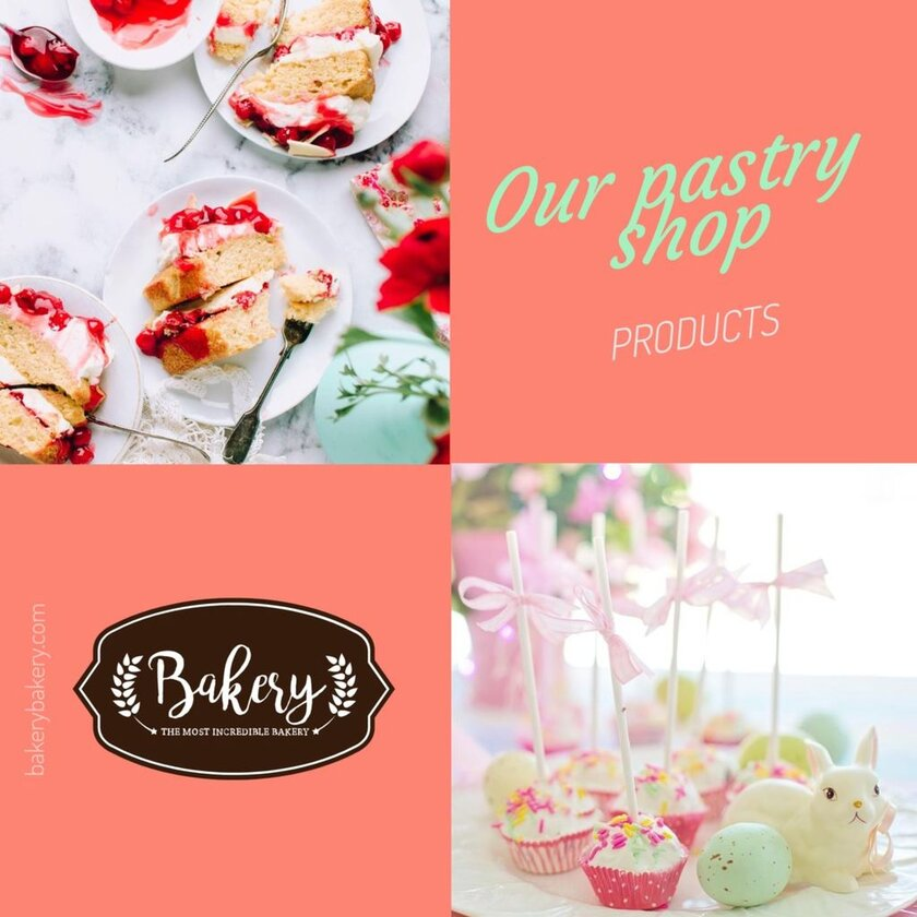 pastry products banner template