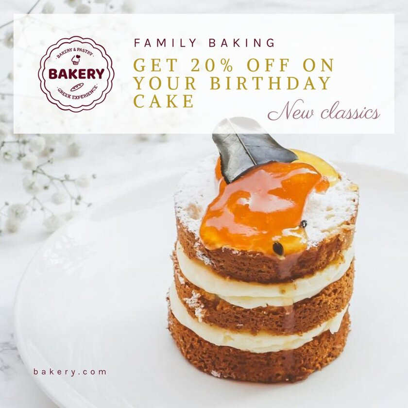 cake discount banner