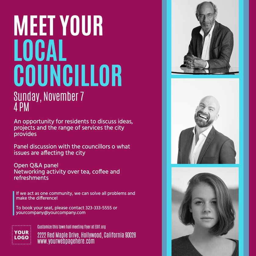 Free census flyer templates for city councils