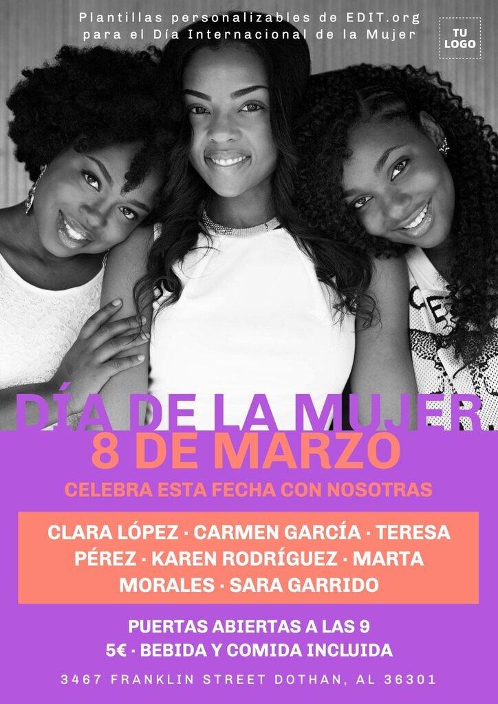 Cartel Día Mujer para imprimir