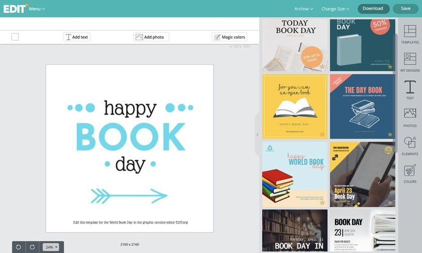World Book Day template maker and editor online for free