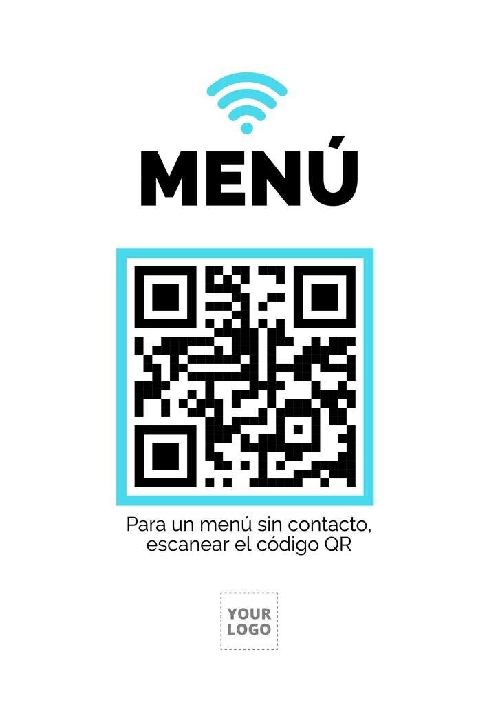 Plantilla para poner código QR para escanear el menú de tu restaurante