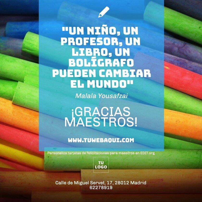 Banners y carteles para Día del Maestro