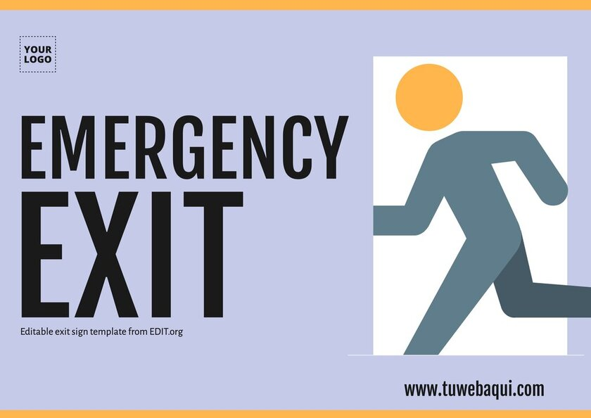 Free outdoor exit sign templates