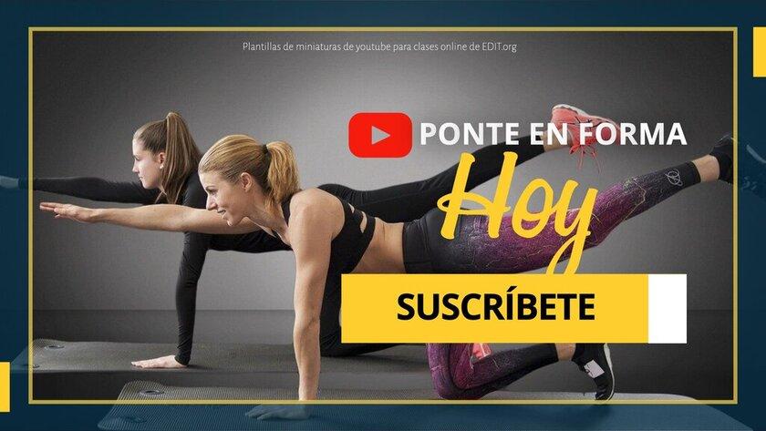 Plantilla de Youtube para clases de yoga