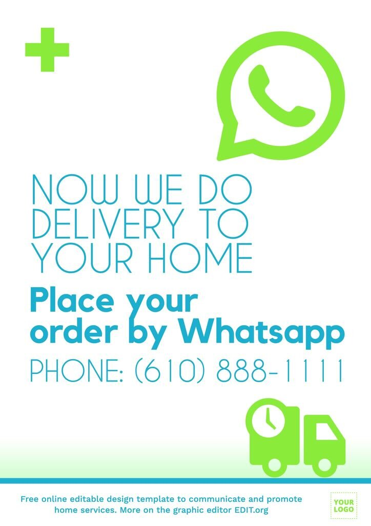Home delivery poster for online orders to edit online