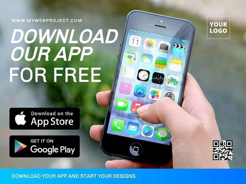 App launch promotion customizable template