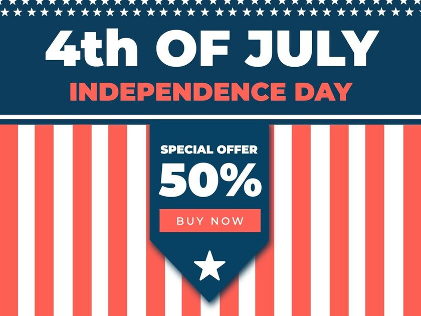 4th of July design templates to edit for promos and sales