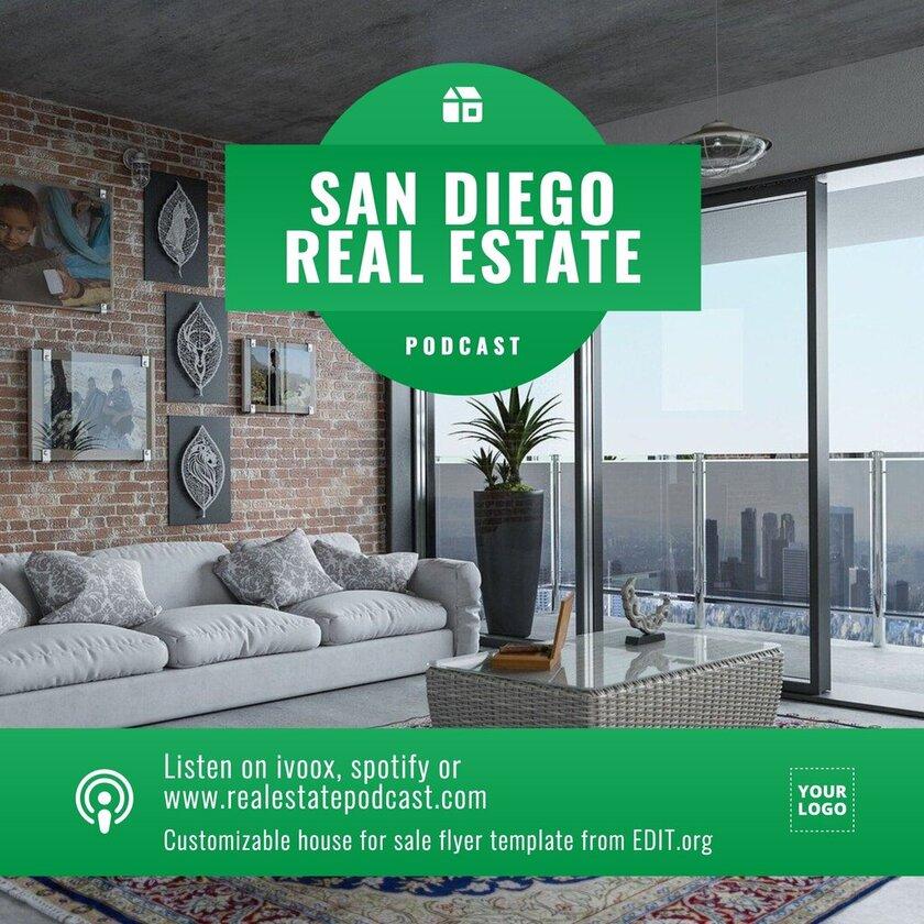 Customizable real estate flyer templates