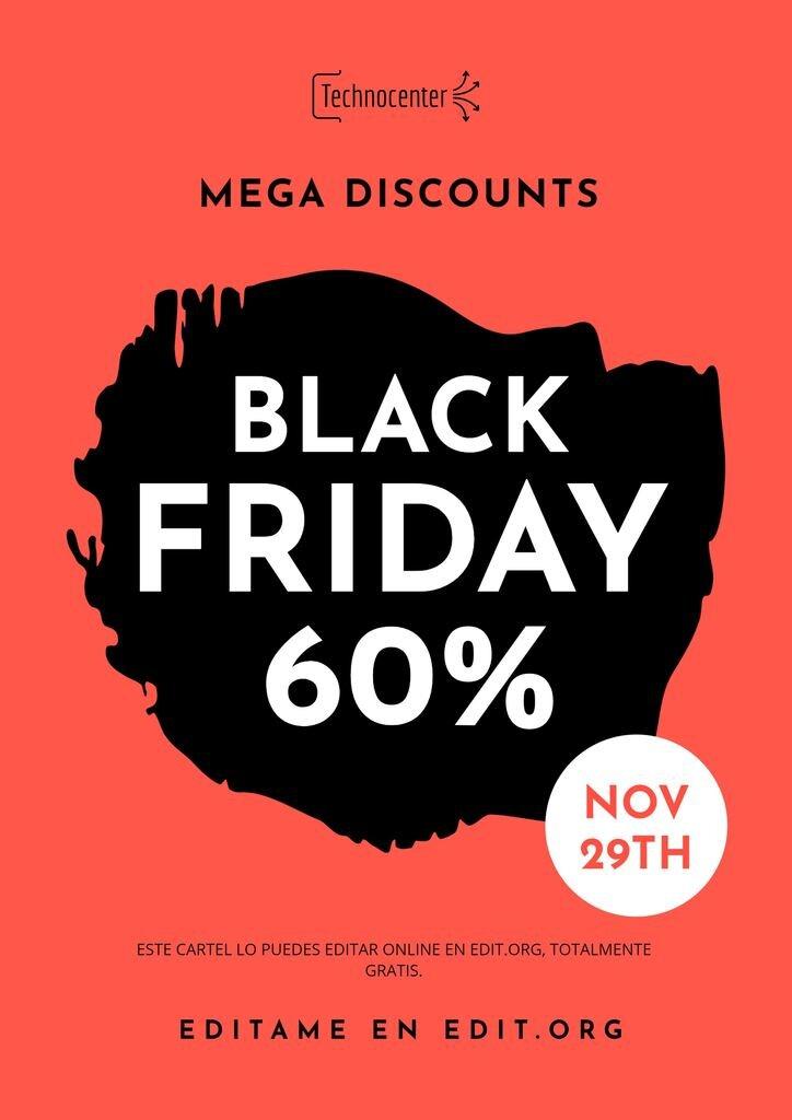 carteles personalizables online para el black friday