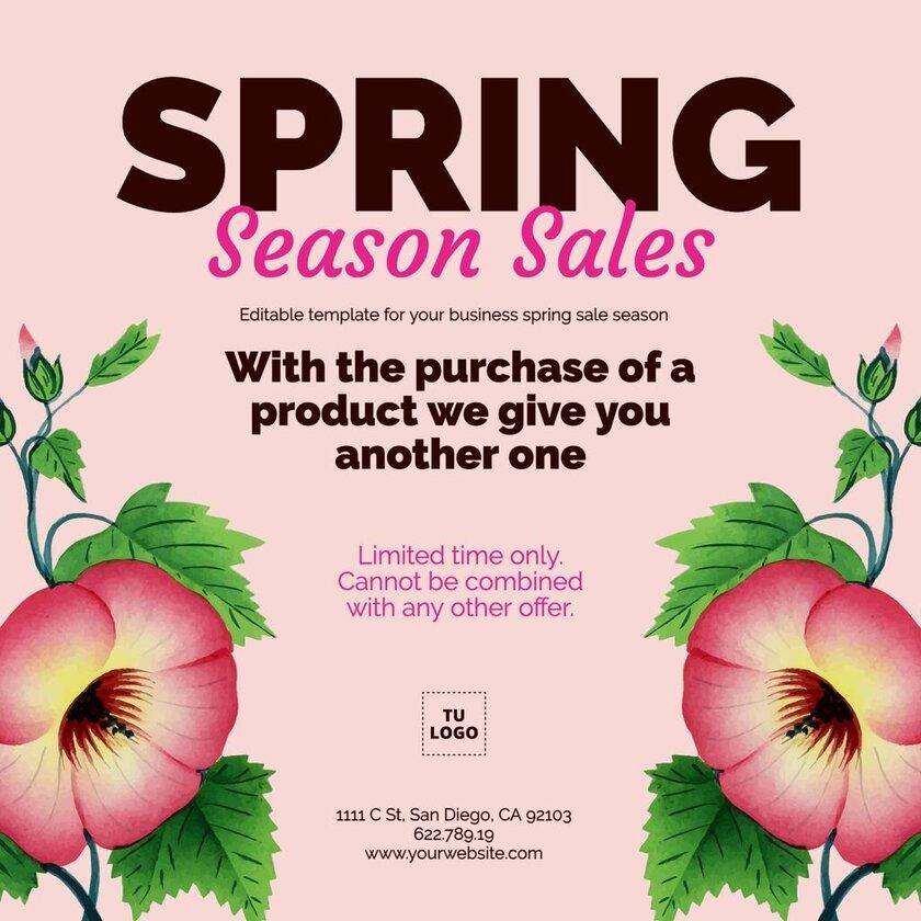 Mid season sale template to edit online