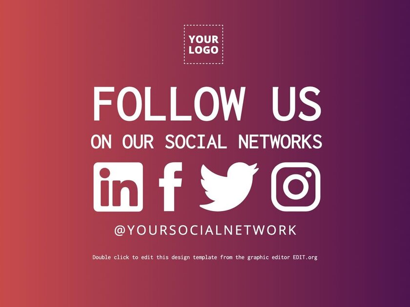 Follow us templates to customize and have more followers
