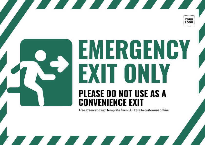 Customizable emergency exit sign battery