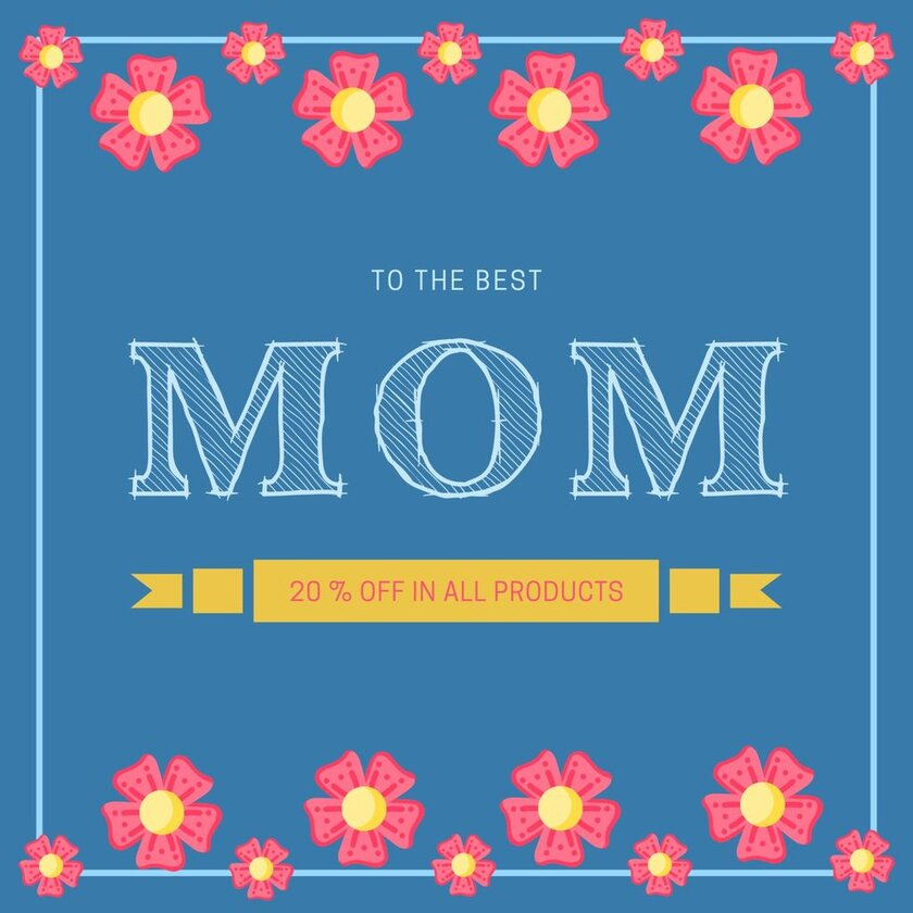 happy mothers day template mom gift image