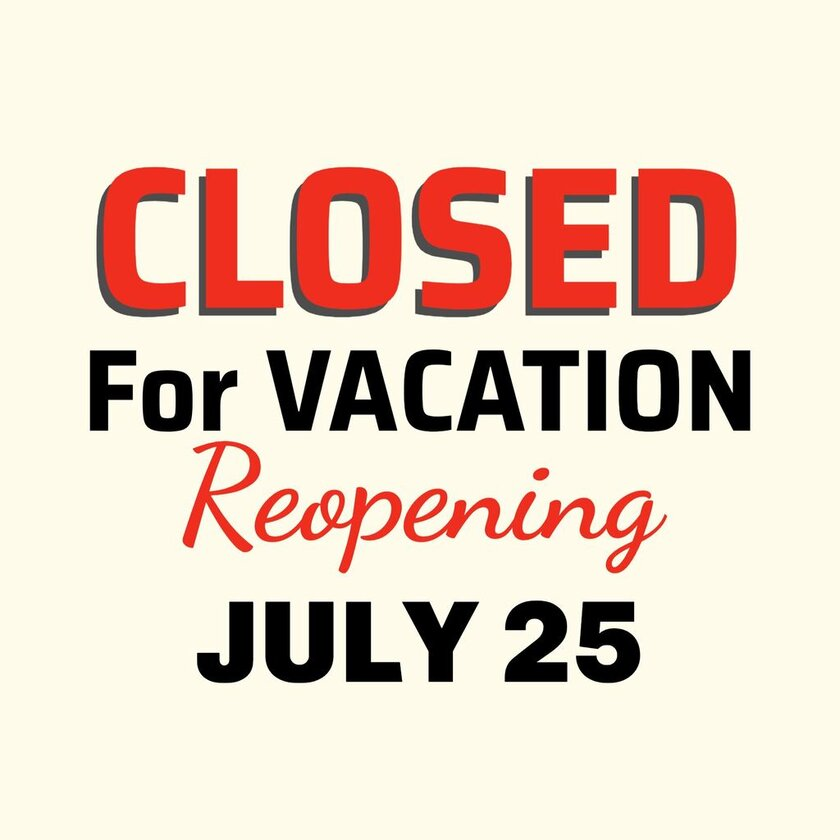 Closed for vacation editable template with the online graphic editor EDIT