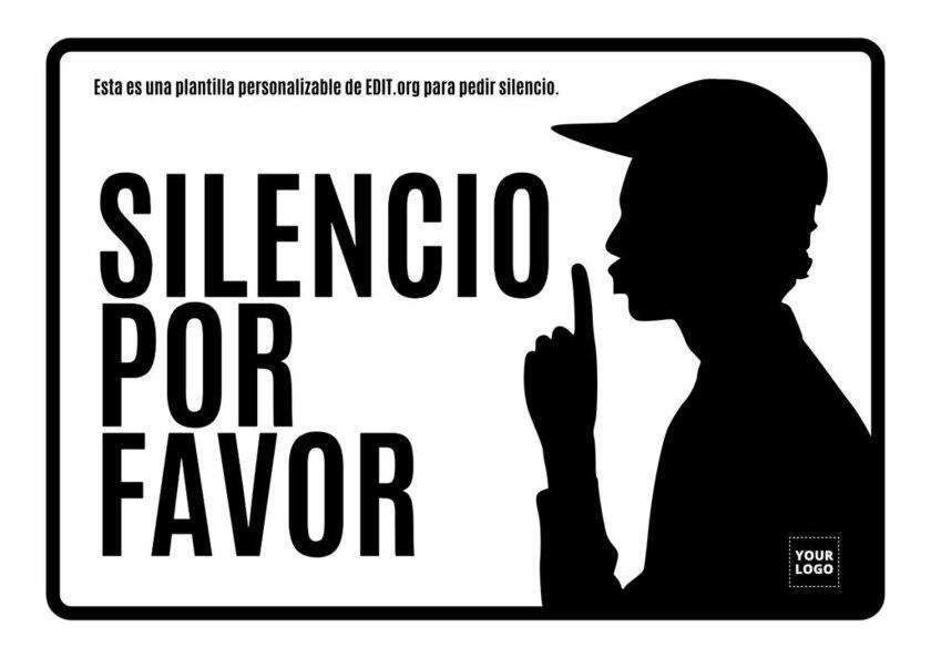 Imágenes de silencio por favor para editar online y gratis