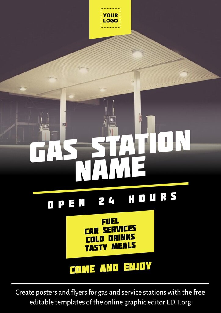 Gas station template design to customize online