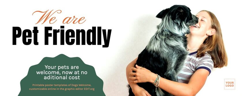 Pet friendly banner to edit online for free