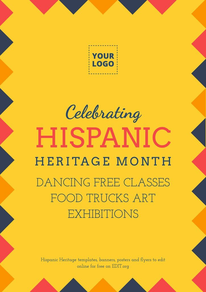 Hispanic Heritage template to customize online for free